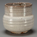 Asian:Japanese, A Japanese Crackle Glazed Earthenware Chawan (Tea Bowl).3-3/8 inches high (8.6 cm). ... (Total: 2 Items)