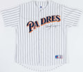 Baseball Collectibles:Uniforms, Tony Gwynn Signed San Diego Padres Jersey....