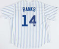 Baseball Collectibles:Uniforms, Ernie Banks Signed Chicago Cubs Jersey....
