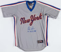 Baseball Collectibles:Uniforms, Nolan Ryan Signed and Inscribed New York Mets Jersey....