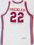 "Basketball Collectibles:Uniforms, Clyde ""The Glide"" Drexler Game Worn Houston Cougars Jersey...."