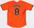 Baseball Collectibles:Uniforms, Cal Ripken Signed Baltimore Orioles Jersey....