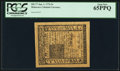 Colonial Notes:Delaware, Delaware January 1, 1776 5s PCGS Gem New 65PPQ.. ...