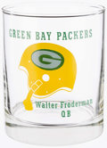 Football Collectibles:Others, Circa 1970's Green Bay Packers Glass - Highly Uncommon Example....
