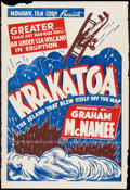 "Movie Posters:Documentary, Krakatoa (Fox, R-1930s). One Sheet (28"" X 41"") & Photos (6) (8"" X 10""). Documentary.. ... (Total: 7 Items)"