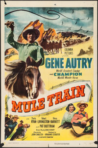 """Mule Train & Others Lot (Columbia, 1950). One Sheets (3) (27"""" X 41""""). Western. ... (Total: 3 Items)"""