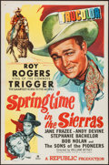 """Movie Posters:Western, Springtime in the Sierras & Other Lot (Republic, 1947). One Sheets (2) (27"""" X 41""""). Western.. ... (Total: 2 Items)"""