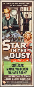 """Movie Posters:Western, Star in the Dust & Others Lot (Universal International, 1956). Inserts (3) (14"""" X 36""""). Western.. ... (Total: 3 Items)"""