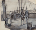 Mainstream Illustration, Stanley Massey Arthurs (American, 1877-1950). Ships Boy,probable interior illustration, 1897. Inkwash and gouache onbo...