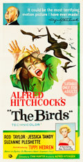 "Movie Posters:Hitchcock, The Birds (Universal, 1963). Australian Three Sheet (40"" X 81)....."