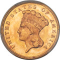 Three Dollar Gold Pieces, 1879 $3 MS65 PCGS....