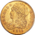 Early Half Eagles, 1811 $5 Tall 5, BD-1, High R.3, MS64 PCGS....