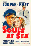 """Movie Posters:Adventure, Souls at Sea (Paramount, 1937). One Sheet (27"""" X 41"""").. ..."""