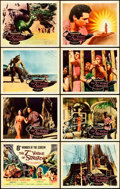 "Movie Posters:Fantasy, The 7th Voyage of Sinbad (Columbia, 1958). Autographed Lobby CardSet of 8 (11"" X 14"").. ... (Total: 8 Items)"