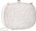 "Luxury Accessories:Bags, Judith Leiber Full Bead Silver Crystal Rectangular MinaudiereEvening Bag. Excellent Condition. 4.75"" Width x 3.75""H..."