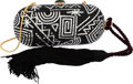 "Luxury Accessories:Bags, Judith Leiber Full Bead Black & Silver Crystal Oval MinaudiereEvening Bag. Very Good to Excellent Condition. 6.5""Wid..."