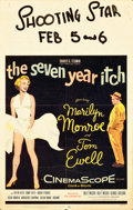 """Movie Posters:Comedy, The Seven Year Itch (20th Century Fox, 1955). Window Card (14"""" X22"""").. ..."""