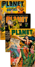 Golden Age (1938-1955):Science Fiction, Planet Comics Group of 5 (Fiction House, 1944-48) Condition:Average VG.... (Total: 5 Comic Books)