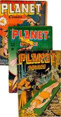 Golden Age (1938-1955):Science Fiction, Planet Comics Incomplete Group of 6 (Fiction House, 1943-48)Condition: Average PR.... (Total: 6 Comic Books)