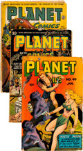 Golden Age (1938-1955):Science Fiction, Planet Comics Group of 7 (Fiction House, 1943-48) Condition:Average FR.... (Total: 7 Comic Books)