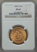 Liberty Eagles: , 1899-S $10 MS62 NGC. NGC Census: (193/83). PCGS Population (139/85). Mintage: 841,000. Numismedia Wsl. Price for problem fr...