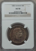 Coins of Hawaii , 1883 50C Hawaii Half Dollar AU58 NGC. NGC Census: (70/176). PCGSPopulation (50/255). Mintage: 87,755. ...
