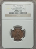 Civil War Merchants, 1861 C. & S. Stein, Dry Goods, Chicago, IL, MS63 Brown NGC,Fuld-IL150BC-3a; 1863 Yankee Robinson, Peoria, IL, MS63 BrownNGC,... (Total: 6 tokens)