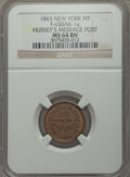 Civil War Merchants, 1863 Broas Pie Baker, New York, NY, MS63 Red and Brown NGC,Fuld-NY630L-6a; 1863 C. Doscher, New York, NY, MS63 Brown NGC,Bak... (Total: 4 tokens)