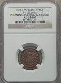 Civil War Merchants, Undated Pulmonales, Coughs & Colds, Boston, MA, AU55 NGC,Fuld-MA115EA-1a; Undated Daniel Williams, Grocer, Brooklyn, NY,MS63... (Total: 8 tokens)