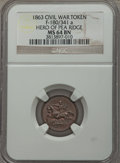Civil War Patriotics, 1863 For Public Accomodation AU58 NGC, Fuld-37/434a; 1863 Hero ofPea Ridge MS64 NGC, Fuld-180/341a; 1863 United States of Ame...(Total: 5 tokens)