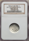 Civil War Patriotics, 1863 United States Medal MS65 NGC. Fuld-68/199e....