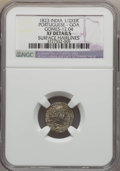 India:Portugese India-Goa, India: Portugese India-Goa. Joao 1/2 Xerafim (150 Reis) 1823 XFDetails (Surface Hairlines) NGC,...