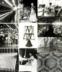 [Textiles, Textile Manufacturing]. Archive of Approximately 150 Photographs Relating to the History of Textiles and Text...