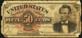 Fractional Currency:Fourth Issue, Fr. 1374 50¢ Fourth Issue Lincoln Very Good.. ...