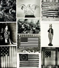 Books:Prints & Leaves, [American Flags and Insignias]. Collection of Twenty-FivePhotographs and Press Prints Relating to American Flags andInsigni...