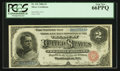 Large Size:Silver Certificates, Fr. 241 $2 1886 Silver Certificate PCGS Gem New 66PPQ.. ...