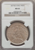 Chile, Chile: Republic Peso 1877-So MS62 NGC,...