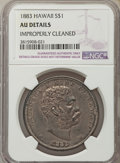 Coins of Hawaii , 1883 $1 Hawaii Dollar -- Improperly Cleaned -- NGC Details. AU. NGCCensus: (30/189). PCGS Population (69/208). Mintage: 46...