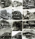 Books:Prints & Leaves, [Trolleys, Cable Cars]. Archive of Approximately 100 Photographs Relating to Historic Trolleys and Cable Cars....