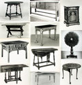 Books:Prints & Leaves, [Tables]. Archive of Approximately 125 Photographs DepictingVarious Table Designs....
