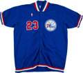 Basketball Collectibles:Others, 1987-88 Roy Hinson Game Worn Philadelphia 76ers Shooting Jacket. ...