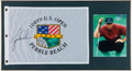 Golf Collectibles:Autographs, Tiger Woods Signed Flag Display. ...