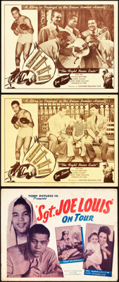 Joe Louis in Sgt. Joe Louis on Tour & Other Lot (Toddy Pictures, 1943). Title Lobby Card & Lobby Cards (2) (11&q...