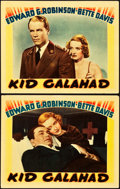 "Movie Posters:Crime, Kid Galahad (Warner Brothers, 1937). Linen Finish Lobby Cards (2)(11"" X 14"").. ... (Total: 2 Items)"