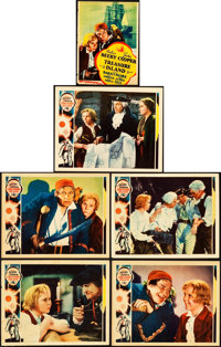 "Treasure Island (MGM, 1934). Lobby Cards (5) (11"" X 14"") & Trimmed Midget Window Card (8"" X 10.75..."