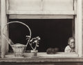 Photographs:Gelatin Silver, Walter Rosenblum (American, b. 1919). Child in Window, 105th St., New York, 1952. Gelatin silver. 7-1/4 x 9-3/8 inches (...