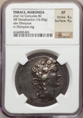 Ancients:Greek, Ancients: THRACE. Maroneia. Late 2nd-middle 1st centuries BC. ARtetradrachm (16.49 gm)....