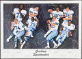 Football Collectibles:Photos, Cowboys Legends Multi Signed Lithograph. ...