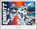 Football Collectibles:Others, Dallas Cowboys Greats Signed Lithographs Lot of 3. ...