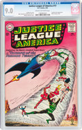 Silver Age (1956-1969):Superhero, Justice League of America #17 (DC, 1963) CGC VF/NM 9.0 Cream to off-white pages....